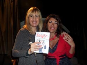 """io e Laura Eid, autrice del libro """"Singles"""" dedicato soprattutto ai singles milanesi"""