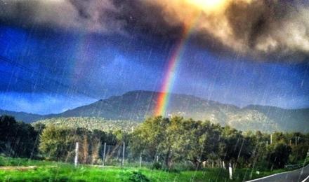 pioggia e arcobaleno